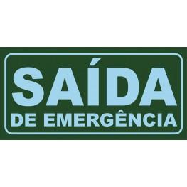 SINALIZAÇÃO SAÍDA DE EMERGÊNCIA 24x12